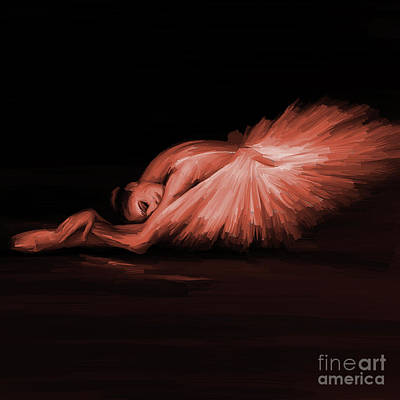Swan Lake Painting - Ballerina Dance 11022 by Gull G