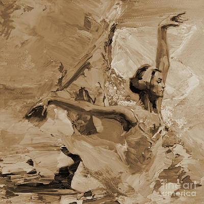 Ballerina Dance 1102a32 Art Print