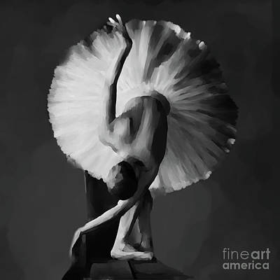 Ballerina Artwork Painting - Ballerina Dance Art 12 by Gull G