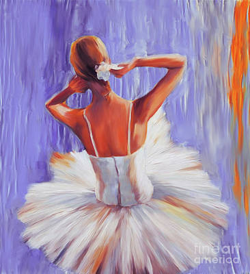 Painting - Ballerina Dance Girl 09 by Gull G