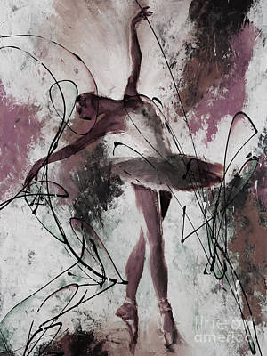 Painting - Ballerina Dance Painting 0032 by Gull G