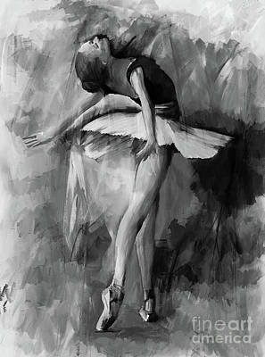 Ballerina Artwork Painting - Ballerina Dance Painting 56001 by Gull G
