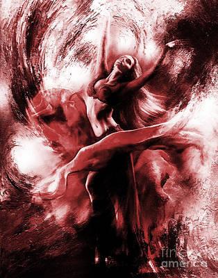 Modern Painting - Ballerina Dance009 by Gull G