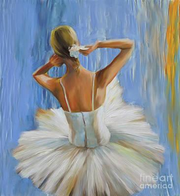 Painting - Ballerina Dancer 8u7 by Gull G