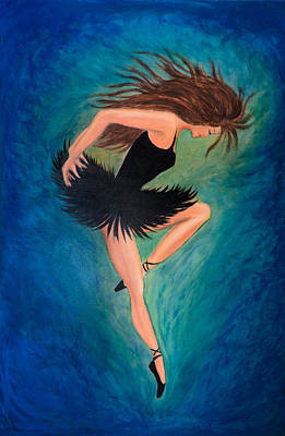 Painting - Ballerina Dancer by Lilia D