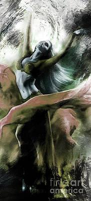 Ballet Dancer Painting - Ballerina Dancing In A Dream  by Gull G