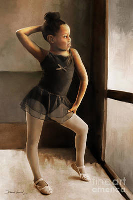 Art Print featuring the digital art Ballerina by Dwayne Glapion
