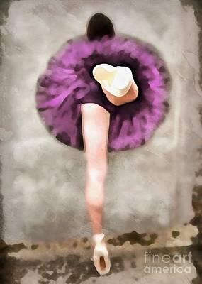 Tutus Digital Art - Ballerina by Edward Fielding