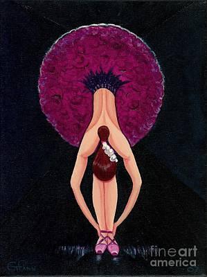 Art Print featuring the painting Ballerina by Gail Finn