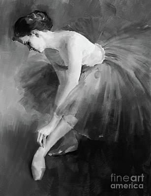 Ballet Dancer Painting - Ballerina Girl 03 by Gull G