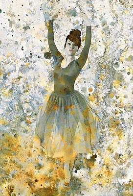 Dancing Girl Mixed Media - Ballerina Girl  by Stacey Chiew