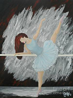 Painting - Ballerina Girl The Stretch by JoNeL Art