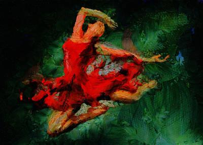 Ballerina Girl -  Love Is Seduction  Art Print by Sir Josef - Social Critic -  Maha Art