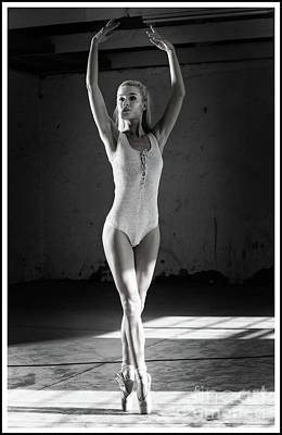 Photograph - Ballerina In A Hall by Michael Edwards