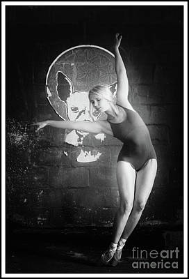 Photograph - Ballerina In Black And White by Michael Edwards