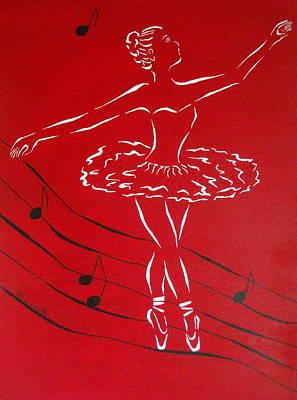 Ballerina In Red Original