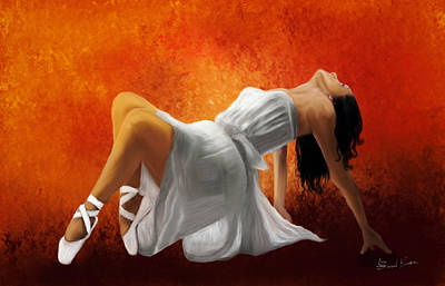 Painting - Ballerina In White by Sannel Larson