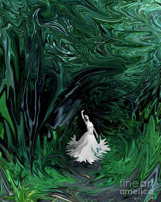Art Print featuring the photograph Ballerina In Wonderland by Rebecca Margraf
