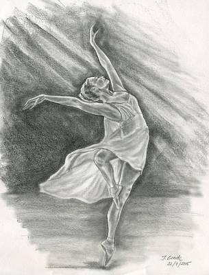 Drawing - Ballerina by Jana Goode
