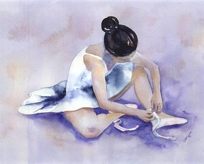 Ballerina Art Print by Jitka Krause