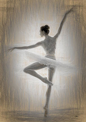 Ballerina Art Print by Quim Abella