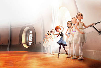 Photograph - Ballerina Leap by Movie Poster Prints