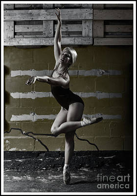 Photograph - Ballerina Outdoors by Michael Edwards