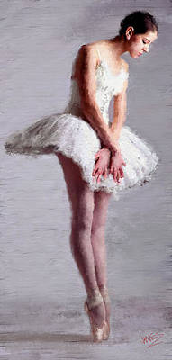 Painting - Ballerina Ready 1 by James Shepherd