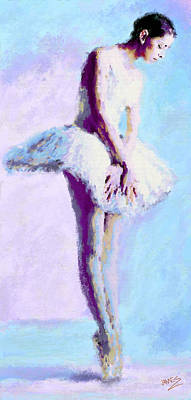 Painting - Ballerina Ready 2 by James Shepherd