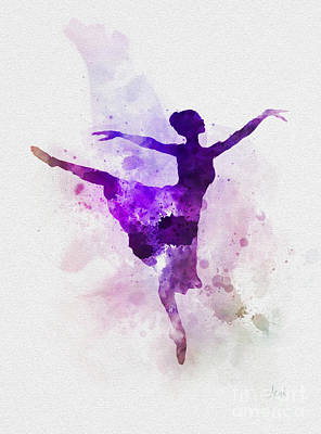 Classical Mixed Media - Ballerina by Rebecca Jenkins
