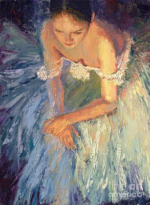 Ballerina Resting Art Print by Colleen Murphy