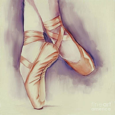 Painting - Ballerina Shoes  by Gull G