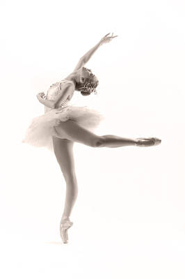 White Photograph - Ballerina by Steve Williams