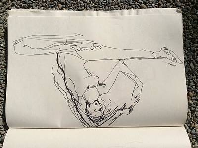 Drawing - Ballerina Stretch by Elizabeth Parashis