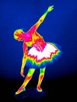 Thermograph Photograph - Ballerina, Thermogram by Tony Mcconnell
