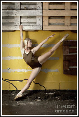 Photograph - Ballerina With A Colorful Background by Michael Edwards