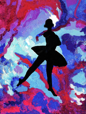 Physique Painting - Ballerina With Ribbons by Margaret Harmon