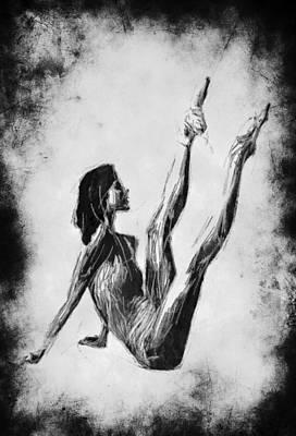 Ballet Dancers Mixed Media - Ballerina Workout by Steve K