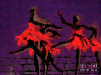 Mixed Media - Ballerinas by David Millenheft