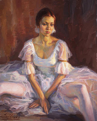 Painting - Ballerina's Daydream by Serguei Zlenko