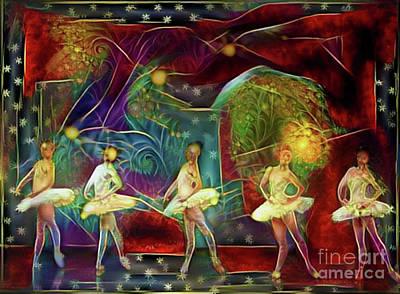 Photograph - Ballerinas In Starlight by Nina Silver