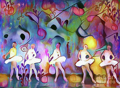 Photograph - Ballerinas In The Garden by Nina Silver