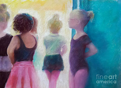 Rehearsing Painting - Ballerinas In Waiting by Cynthia Pierson