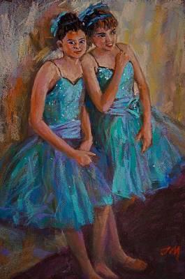 Painting - Ballerinas by Jieming Wang