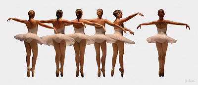 Photograph - Ballerinas by Joe Bonita