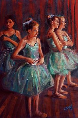 Painting - Ballerinas,in The Dancing Class  by Jieming Wang