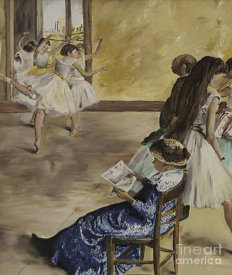 Painting - Degas' Ballet Class 1881 by James Lavott