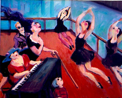 Painting - Ballet Class by Anne Marie Bourgeois