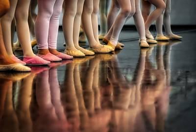 Child Ballerina Photograph - Ballet Class by Skitterphoto
