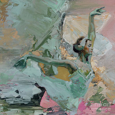 Ballerina Artwork Painting - Ballet Dance 000802feq by Gull G